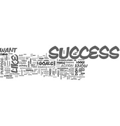 What does success look like to you text word vector