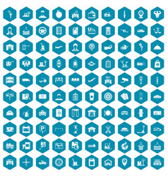 100 loader icons sapphirine violet vector