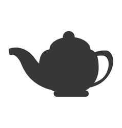 Porcelain teapot icon vector