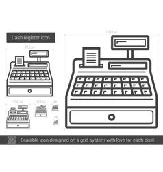 Cash register line icon vector image