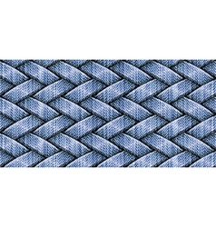 weaving jeans vector image