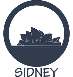 Flat icon attractions in australia vector