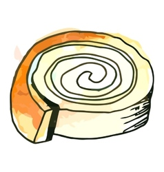 Sweet roll vector