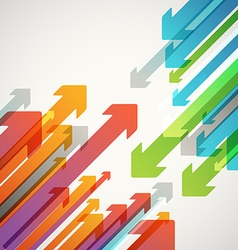 Abstract background of different color arrows vector