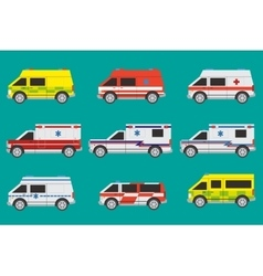 Ambulance cars vector