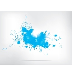 Colored paint splashes on abstract background vector