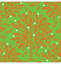 Seamless tree pattern 016 vector