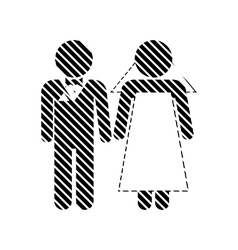 Wedding couple sign vector