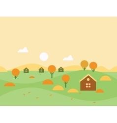 Seamless Cartoon Autumn Nature Landscape vector image