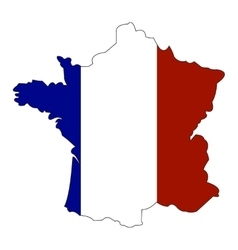 Map and state flag of france vector