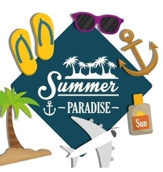 Summer time design vacation icon beach concept vector