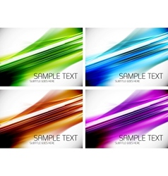 Set of line backgrounds vector