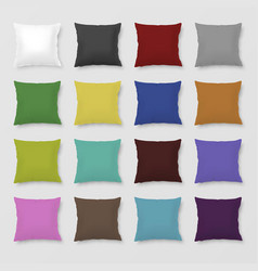 Set of realistic colored pillows vector image