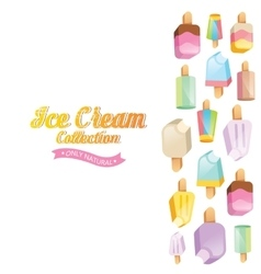 Colorful ice cream collection vector