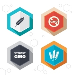 Agricultural icons GMO free symbols vector image vector image