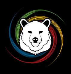 Big bear head graphic vector