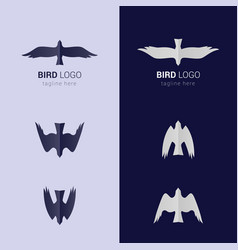 Bird emblem vector