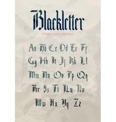 Blackletter modern gothic font vector