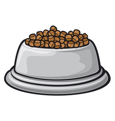bowl for animals vector image vector image