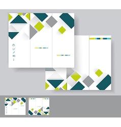 brochure template design vector image vector image