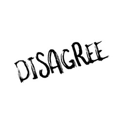 Disagree rubber stamp vector