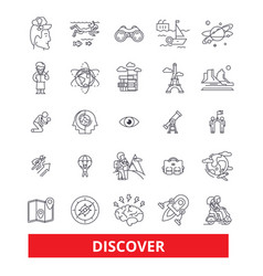 Discover explorer find magnifying glass vector