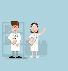 doctor flat design cartoon character vector image
