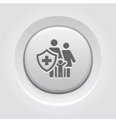 Family Insurance Icon Grey Button Design vector image vector image