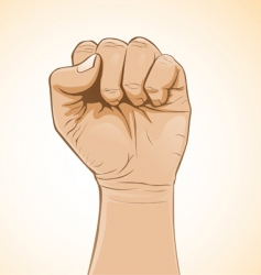 fist color vector image vector image