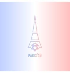 Football or soccer france euro 2016 logos vector