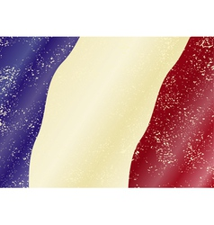 French grunge flag vector image vector image