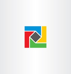 geometric square colorful business logo abstract vector image