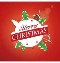 logo Christmas vector image vector image
