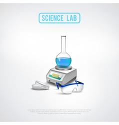 Minimalistic lab equipment composition vector