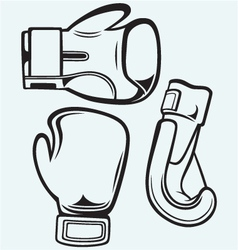 Pair boxing gloves vector
