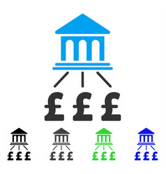 Pound bank scheme flat icon vector
