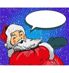 Santa claus in comic pop art vector