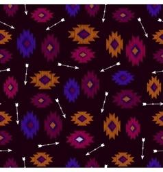 seamless ikat tribal pattern vector image