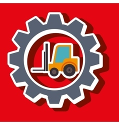 Signal forklift isolated icon design vector