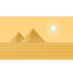 Silhouette of pyramid on desert vector