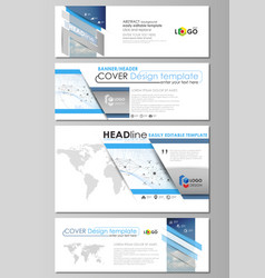 Social media and email headers modern banners vector