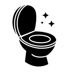 toilet clean cleaning icon vector image