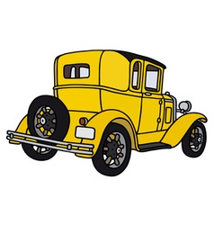 Vintage yellow coupe vector