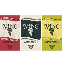 Wine label set vector image vector image