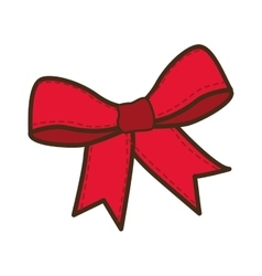 Merry christmas bow decoration vector