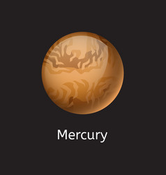High quality space planet galaxy astronomy mercury vector