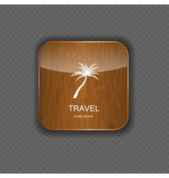 Travel application icons vector