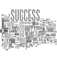 What does success mean to you text word cloud vector