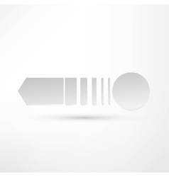 - pure white arrow vector