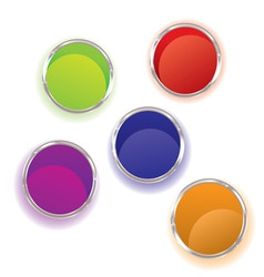 Abstract brightly coloured paint pots collection w vector